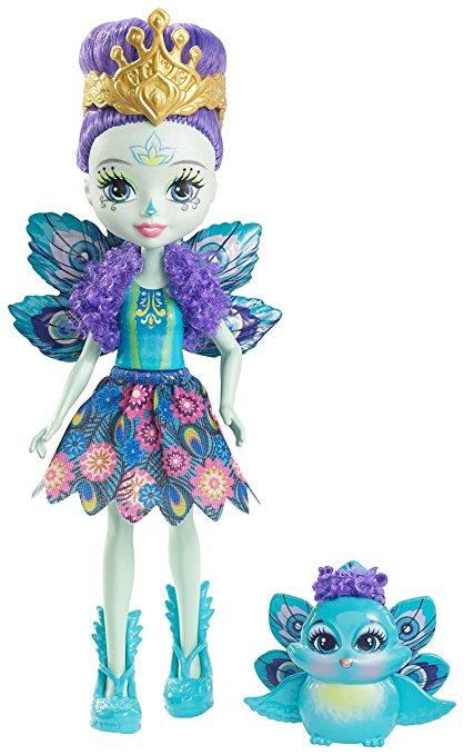 Enchantimals mini poupée patter paon