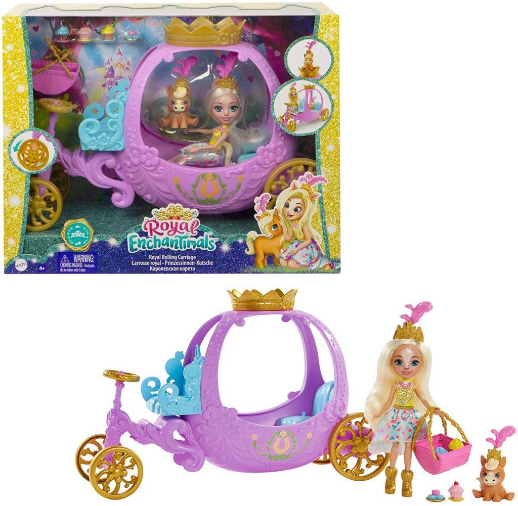 Enchantimals Royals coffret Carrosse Royal avec mini-poupée Peola Poney